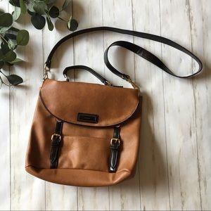 Topshop Brown & Black Messenger Crossbody Bag